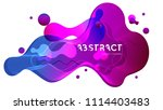 abstract fluid creative... | Shutterstock .eps vector #1114403483