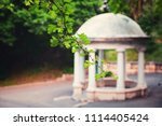 rotunda in the park of... | Shutterstock . vector #1114405424