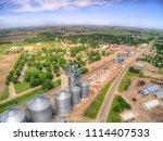 a small dakota town during... | Shutterstock . vector #1114407533