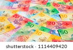 collection of the new swiss... | Shutterstock . vector #1114409420