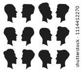 adult male head profile... | Shutterstock .eps vector #1114412270