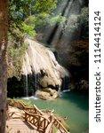jetshi waterfalls in thailand | Shutterstock . vector #1114414124