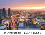aerial photo downtown miami... | Shutterstock . vector #1114416659