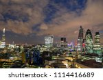 close up amazing london skyline ... | Shutterstock . vector #1114416689