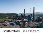 aluminum metallurgical plant... | Shutterstock . vector #1114416974