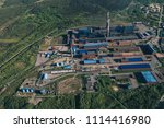 aluminum metallurgical plant... | Shutterstock . vector #1114416980