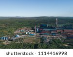 aluminum metallurgical plant... | Shutterstock . vector #1114416998