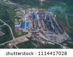 aluminum metallurgical plant... | Shutterstock . vector #1114417028