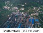 aluminum metallurgical plant... | Shutterstock . vector #1114417034