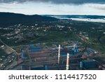 aluminum metallurgical plant... | Shutterstock . vector #1114417520
