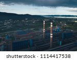 aluminum metallurgical plant... | Shutterstock . vector #1114417538