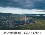 aluminum metallurgical plant... | Shutterstock . vector #1114417544