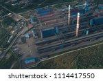 aluminum metallurgical plant... | Shutterstock . vector #1114417550