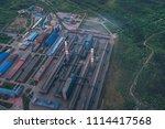 aluminum metallurgical plant... | Shutterstock . vector #1114417568