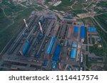 aluminum metallurgical plant... | Shutterstock . vector #1114417574