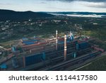 aluminum metallurgical plant... | Shutterstock . vector #1114417580