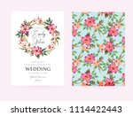 floral greeting card invitation ... | Shutterstock .eps vector #1114422443