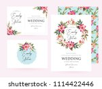 wedding invitation card suite... | Shutterstock .eps vector #1114422446