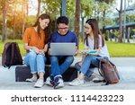 students teenager asian... | Shutterstock . vector #1114423223