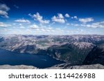 the norwegian lysefjord  a... | Shutterstock . vector #1114426988
