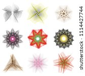 holiday patterns of stars of... | Shutterstock .eps vector #1114427744
