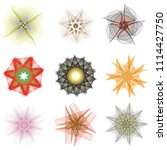 holiday patterns of stars of... | Shutterstock .eps vector #1114427750