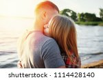 couple in love happy on beach... | Shutterstock . vector #1114428140