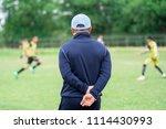 football or socker coach... | Shutterstock . vector #1114430993