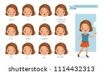 mouth  girl animation. lip sync ... | Shutterstock .eps vector #1114432313