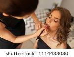 sensual sexy woman. makeup...   Shutterstock . vector #1114433030