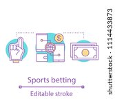 sports betting concept icon.... | Shutterstock .eps vector #1114433873