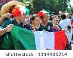 moscow  russia   june 17  fans... | Shutterstock . vector #1114435214