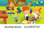 the cartoon kindergarten   fun... | Shutterstock . vector #111443714