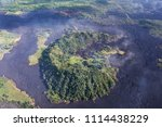 aerial view of lava flows from... | Shutterstock . vector #1114438229