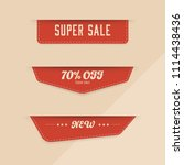 sale red banner and new tag... | Shutterstock .eps vector #1114438436