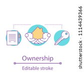 ownership concept icon. real... | Shutterstock .eps vector #1114439366