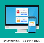 two steps authentication... | Shutterstock .eps vector #1114441823