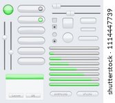 white blank buttons with green... | Shutterstock . vector #1114447739