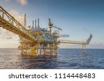 offshore oil and gas central... | Shutterstock . vector #1114448483