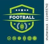 american football championship... | Shutterstock .eps vector #1114455743