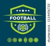 soccer logos  american logo... | Shutterstock .eps vector #1114456733