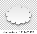 quote style form cloud... | Shutterstock .eps vector #1114459478