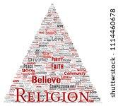 vector conceptual religion  god ...   Shutterstock .eps vector #1114460678