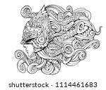 mythical creature  girl in a... | Shutterstock . vector #1114461683