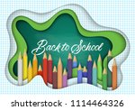 back to school banner design... | Shutterstock .eps vector #1114464326