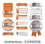a set of various vector badges... | Shutterstock .eps vector #111446528