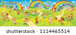 children's entertainment... | Shutterstock .eps vector #1114465514