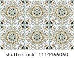 talavera pattern.  azulejos... | Shutterstock .eps vector #1114466060