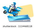 the easy ordering an online... | Shutterstock .eps vector #1114468118