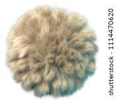 3d rendering of fluffy ball.... | Shutterstock . vector #1114470620
